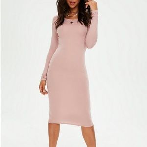 Missguided Dresses - Pink body con Midi